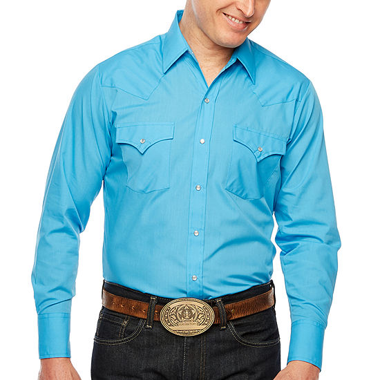 Ely Cattleman Mens Long Sleeve Western Shirt