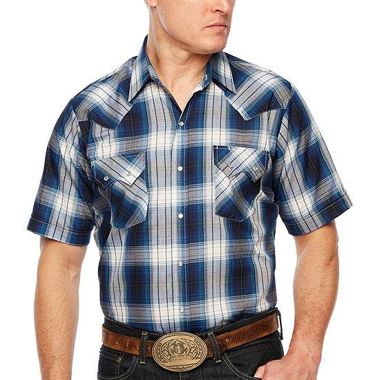 Ely Cattleman Mens Short Sleeve Western Shirt - Tall