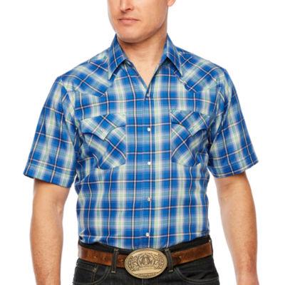 Ely Cattleman Mens Short Sleeve Western Shirt