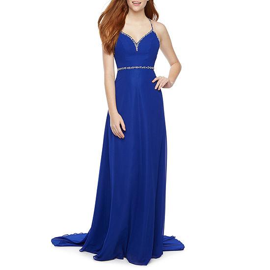 B. Smart Sleeveless Applique Party Dress-Juniors