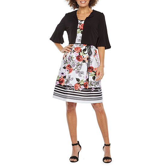 Studio 1 Elbow Sleeve Floral Jacket Dress