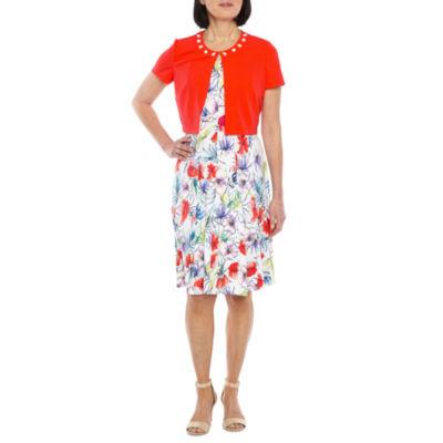 Perceptions Sleeveless Jacket Dress