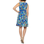 Alyx Sleeveless Paisley Fit & Flare Dress