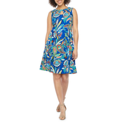 Alyx Sleeveless Paisley Fit & Flare Dress