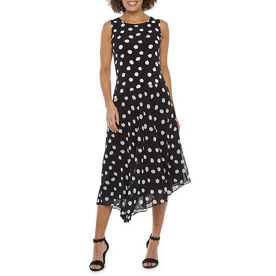 Ronni Nicole Sleeveless Dots Fit & Flare Dress