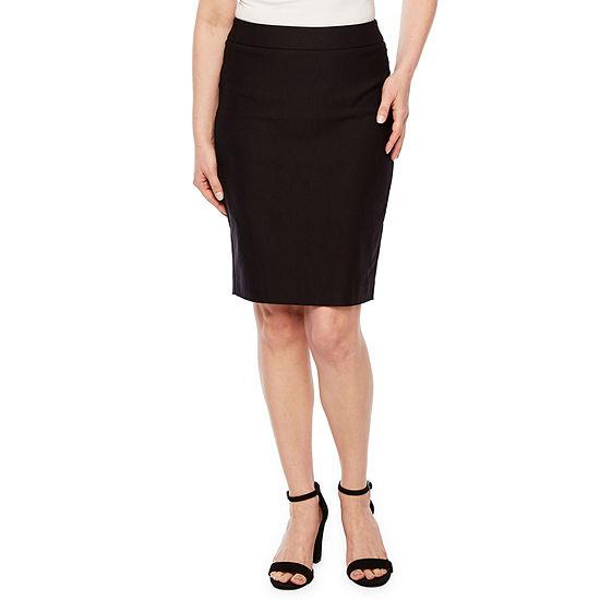 Worthington Womens Stretch Pencil Skirt Petite