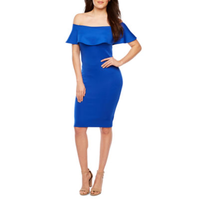 Bold Elements Short Sleeve Bodycon Dress