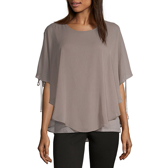 1302275a336835 Alyx Womens Round Neck Short Sleeve Blouse - JCPenney