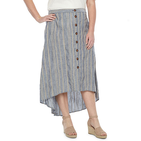 78daba213a49 a.n.a Womens Button Front Skirt - Plus - JCPenney