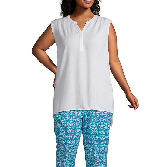 East 5th Sleeveless Popover Top - Plus