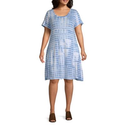 Liz Claiborne Scoop Pocket Dress - Plus