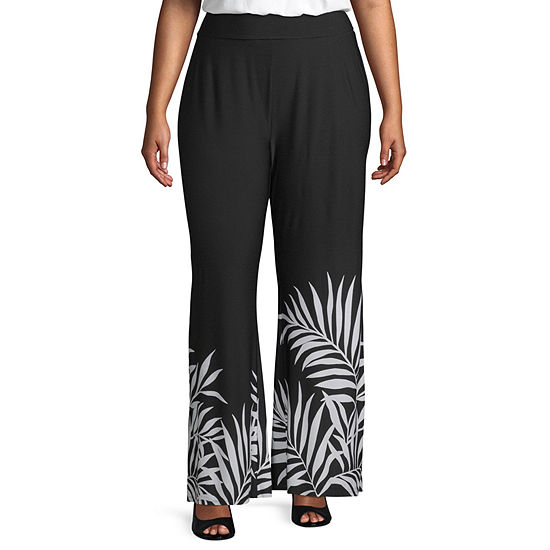 Bold Elements Womens Wide Leg Palazzo Pant-Plus