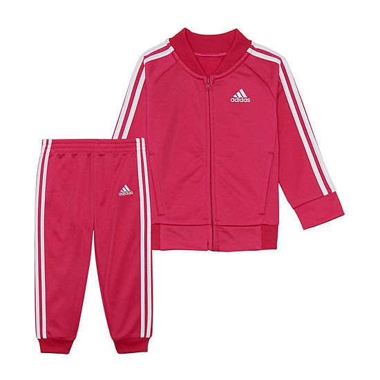 adidas Little Kid Girls 2-pc. Logo Pant Set