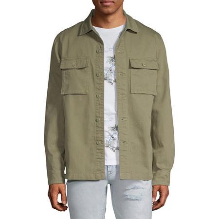 Arizona Herringbone Lightweight Field Jacket, Small , Green