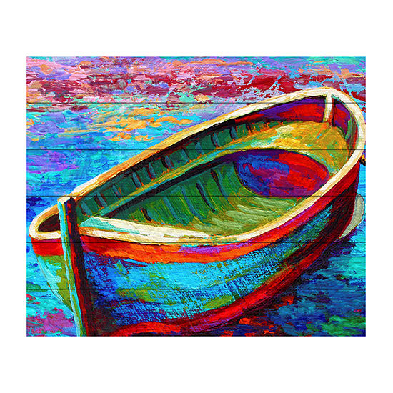 Trademark Fine Art Marion Rose 'Boat 9' Wood Wall Sign