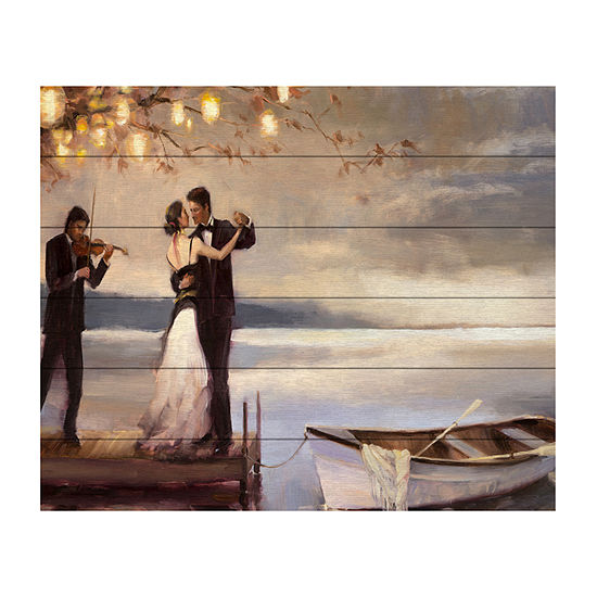 Trademark Fine Art Steve Henderson 'Twilight Romance' Wood Wall Sign