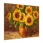Trademark Fine Art Rio 'Sunflowers Still Life' Wood Wall Sign