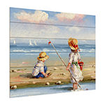 Trademark Fine Art Rio 'At The Beach Iii' Wood Wall Sign