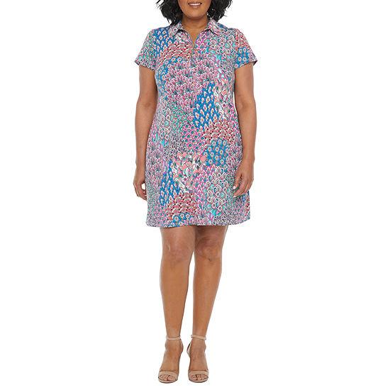 MSK-Plus Short Sleeve Swing Dresses