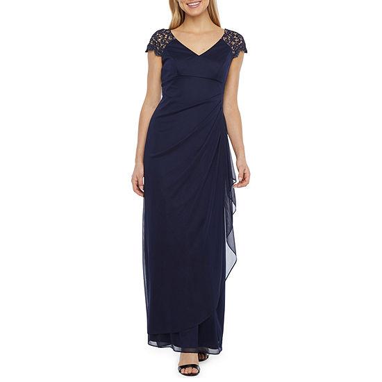 DJ Jaz Short Sleeve Evening Gown