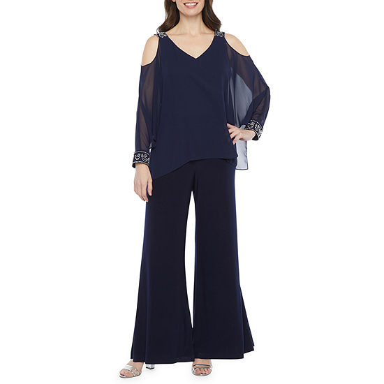 Scarlett Long Sleeve Cold Shoulder Jumpsuit