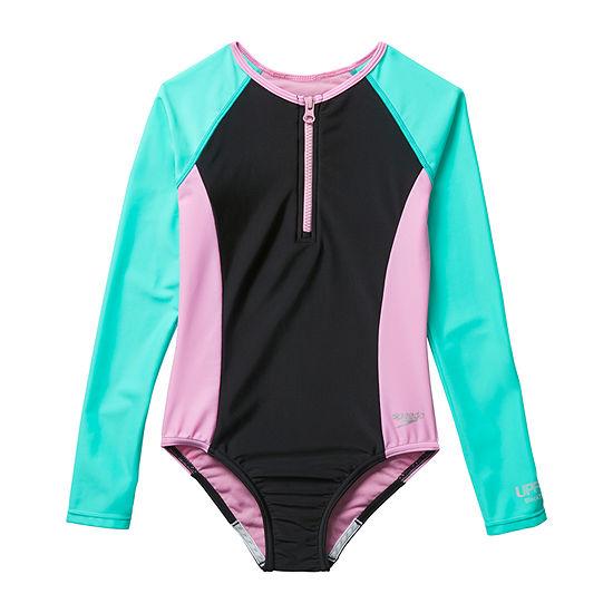 Speedo Big Kid Girls One Piece Swimsuit
