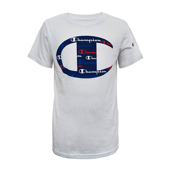 Champion Big Boys Crew Neck Short Sleeve Graphic T-Shirt