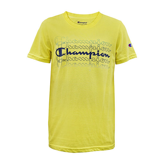 Champion Short Sleeve Tees - Big Kid Boys Crew Neck Short Sleeve Graphic T-Shirt