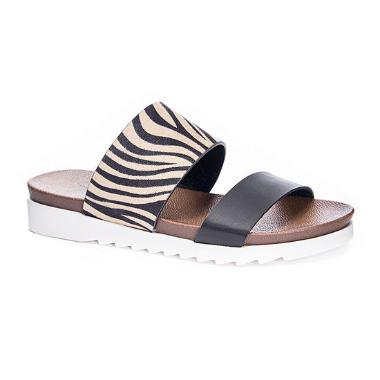 Dirty Laundry Womens Coastline Slide Sandals