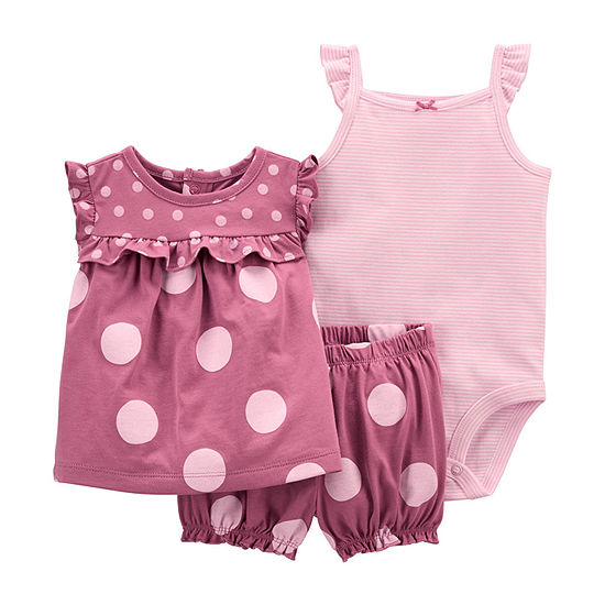 Carter's Baby Girls 3-pc. Short Set