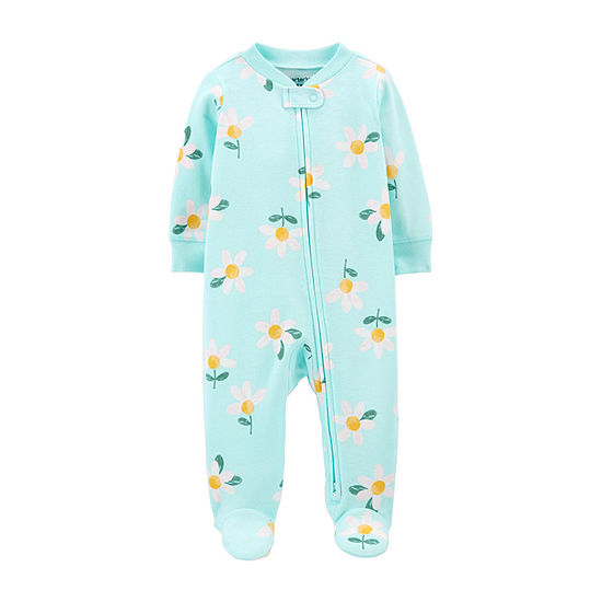 Carter's 2-Way Zipper Baby Girls Sleep and Play