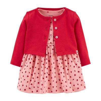 Carter's Baby Girls Long Sleeve Midi 2-pc. Dress Set