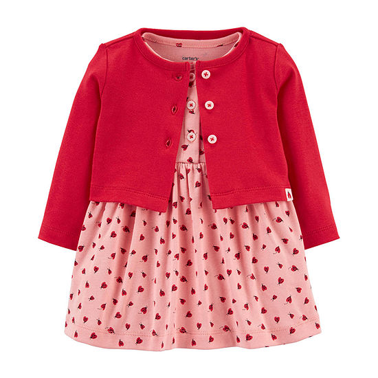 Carter's Baby Girls Long Sleeve Midi 2-pc. Dress Set