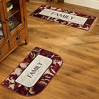 Sentiments Washable Kitchen Rug   Sentiments Washable Kitchen Rug