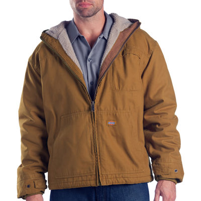 Dickies® Sanded Duck Sherpa-Lined Hooded Work Jacket