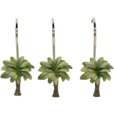 Bacova Citrus Palm Shower Curtain Hooks