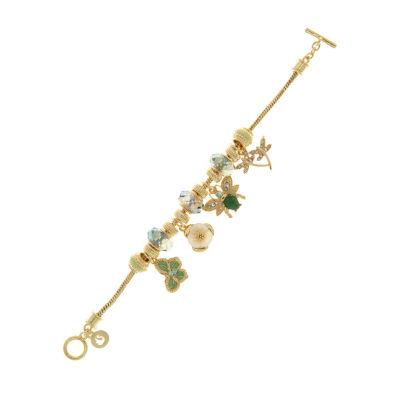 Gloria Vanderbilt Womens Brass Link Bracelet