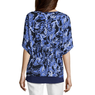 Liz Claiborne Short Sleeve Flutter Shrug - Tall
