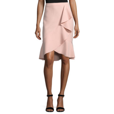 "Worthington Ruffle Flounce Skirt - Tall 28"""