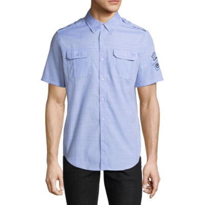 Ecko Unltd Short Sleeve Button-Front Shirt