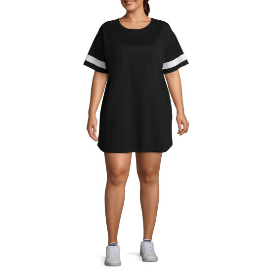 Flirtitude Varsity Dress - Juniors Plus