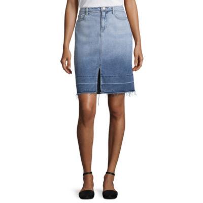 a.n.a Denim Midi Skirt