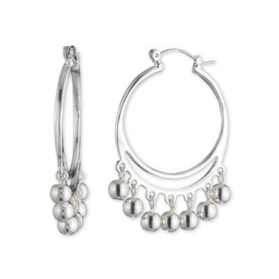 Gloria Vanderbilt Brass 35mm Hoop Earrings