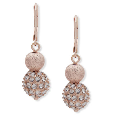 Gloria Vanderbilt Brass Drop Earrings