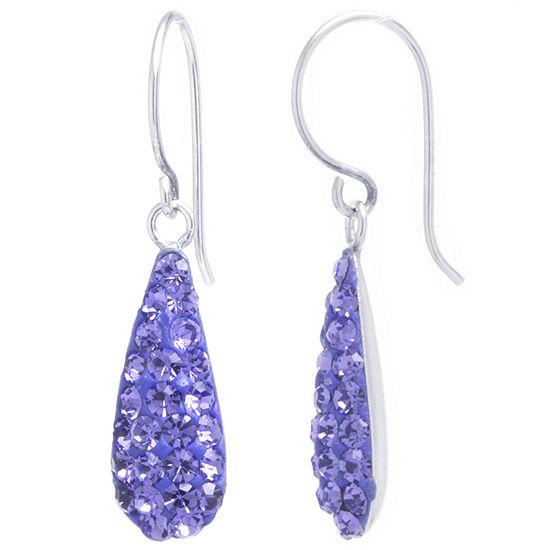 Silver Treasures 2-pc. Purple Drop Earrings