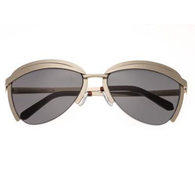 Bertha Womens Half Frame Rectangular Polarized Sunglasses