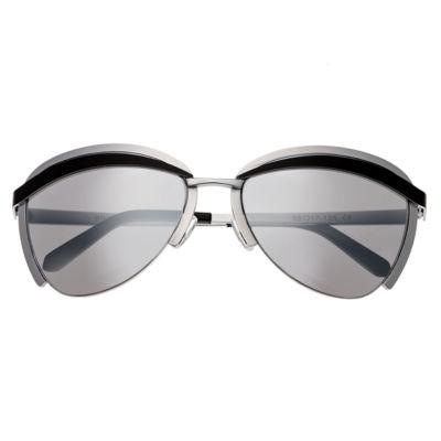 Bertha Half Frame Rectangular Sunglasses-Womens