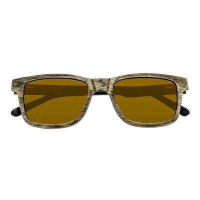 Earth Wood Full Frame Square Sunglasses-Womens