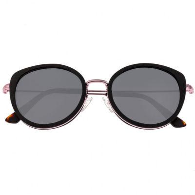 Earth Wood Full Frame Round Sunglasses-Womens