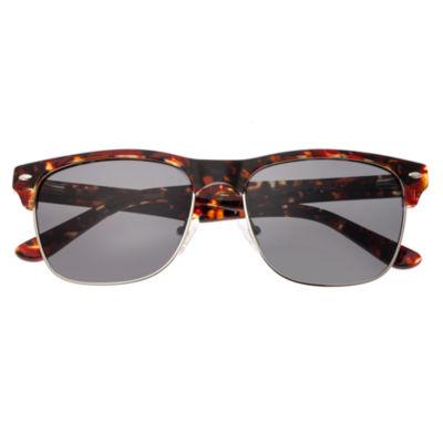 Sixty-One Half Frame Square Sunglasses-Womens